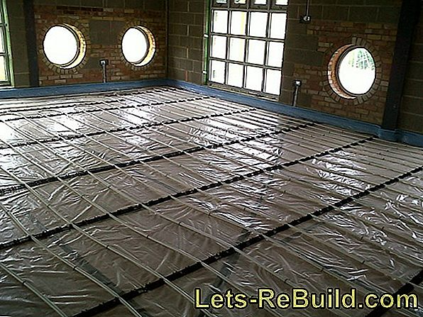 Heating screed with underfloor heating
