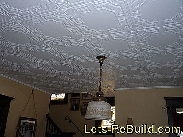 Cover The Ceiling With Panels And Ceiling Tiles