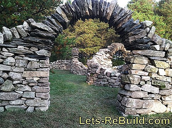 Build a rubble stone wall - that's how it works