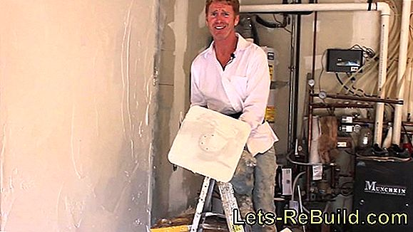 Apply interior plaster in the basement