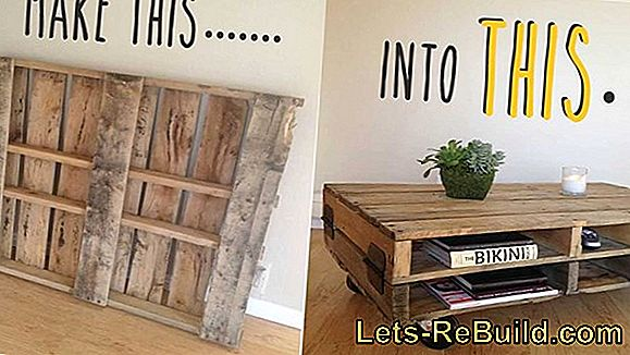 Building and designing kitchen furniture made of pallets
