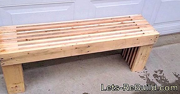 Build a kitchen table from pallets yourself