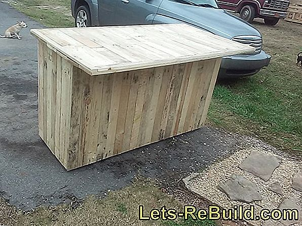 Kitchen Island Made Of Pallets » How To Build It Yourself