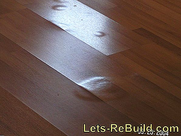 So a swollen laminate floor can be repaired