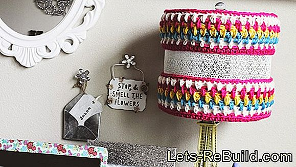 Crochet the lamp yourself