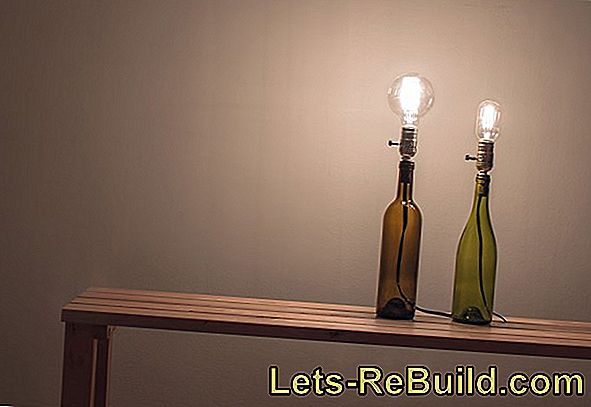 Building A Lamp Out Of Bottles » Instructions In 5 Steps