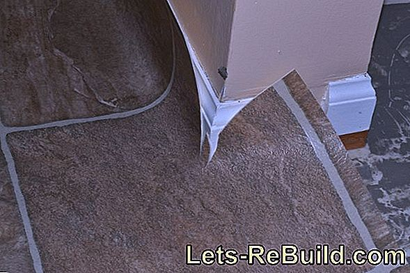 Lay linoleum - step by step instructions