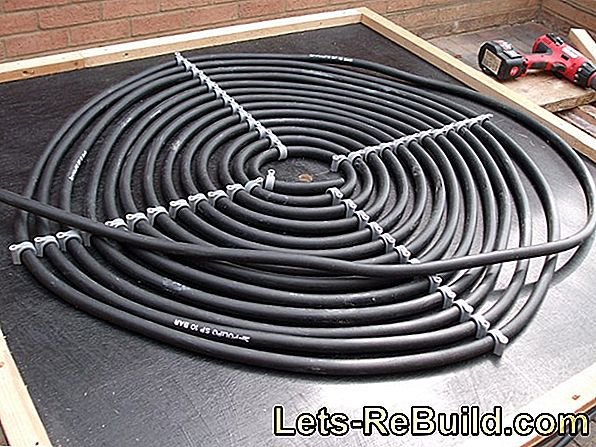 How to lay heating pipes made of plastic yourself