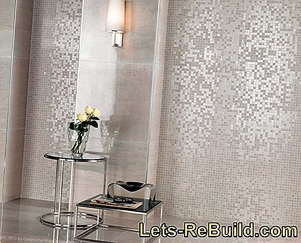 Elegance and luxury with mosaic tiles in gold