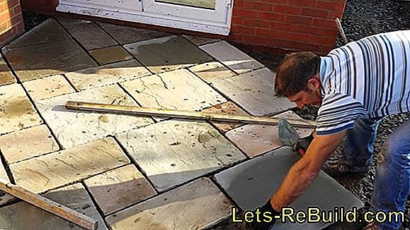 Lay natural stone slabs loosely without mortar or glue
