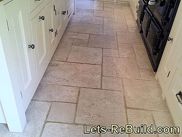 Clean natural stone tiles with a home remedy