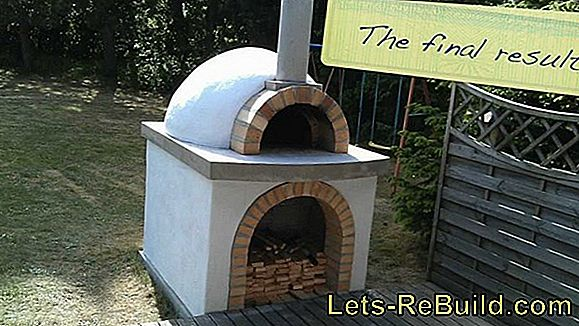 Build a wood oven yourself - baking in the garden