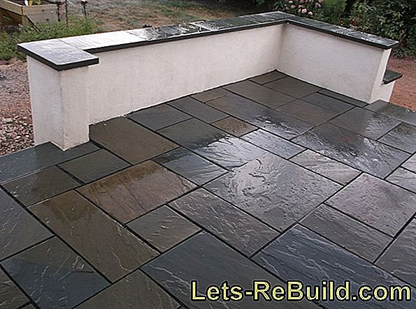Lay the patio tiles expertly: cost per square meter