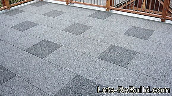Lay granite terrace tiles