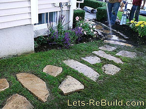 So you can also lay sidewalk slabs on grit