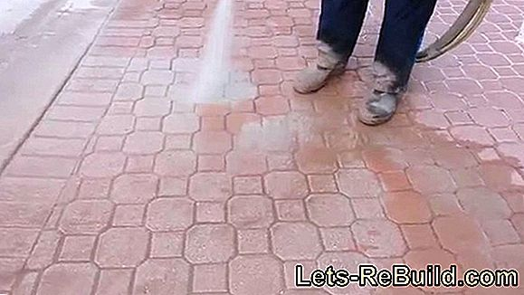 Paint pavers - make old out of old