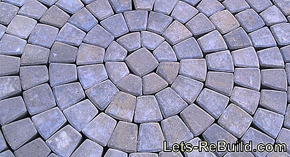 Paving Stones Around Concrete, Clinker Or Pebbles