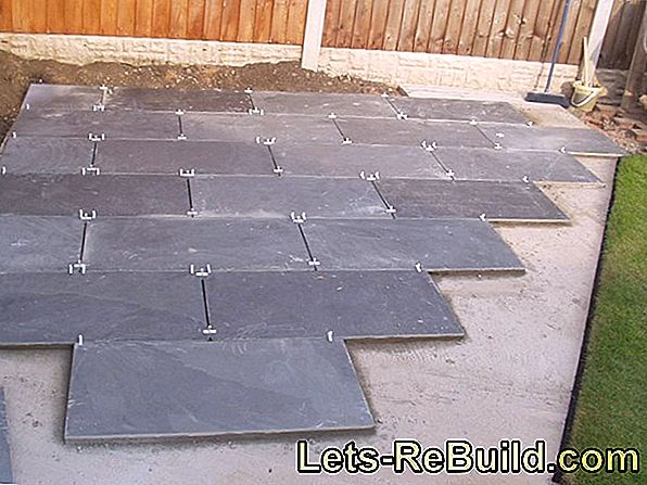 Paving stones grout without weeds - this is how it works