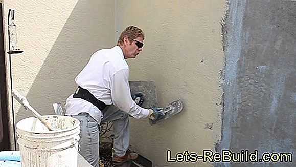 Properly apply spray plaster for application to the ceiling