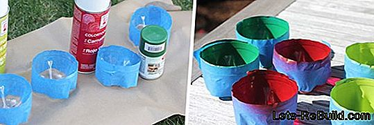 Paint PET bottles from outside or inside