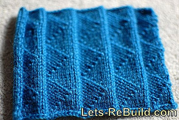 Knitting pleated patterns: how does it work?