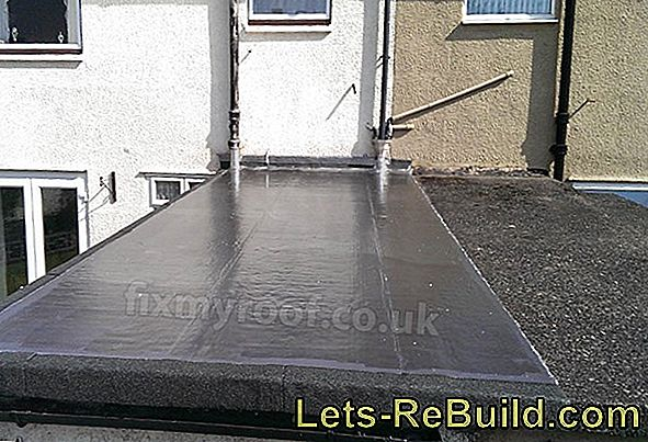 Professionally cover a flat roof