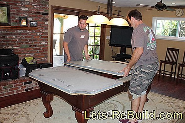 Transport billiard table safely and without damage