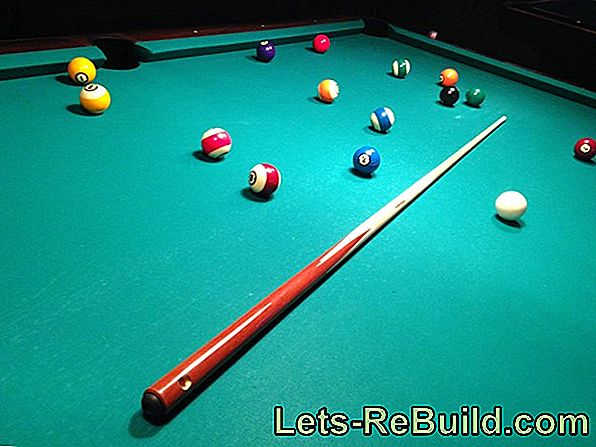 Align billiard table precisely