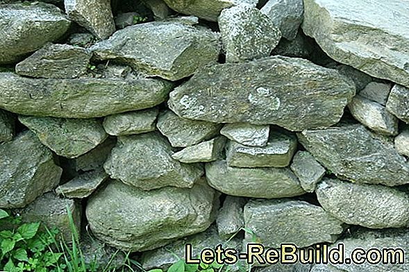 Dry the dry stone wall and renovate it