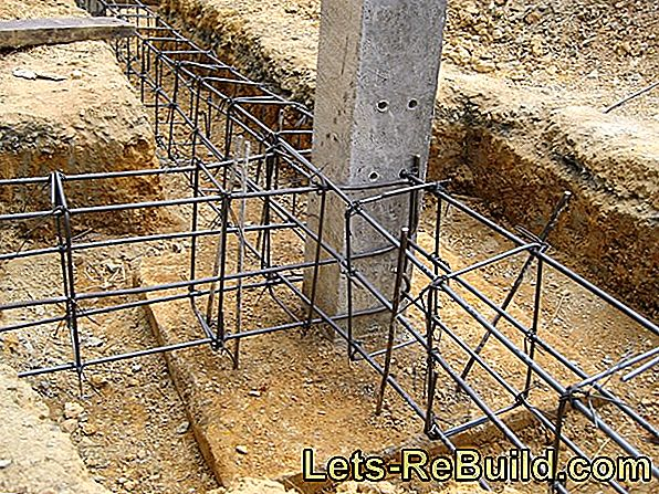 Reinforced concrete in the house construction