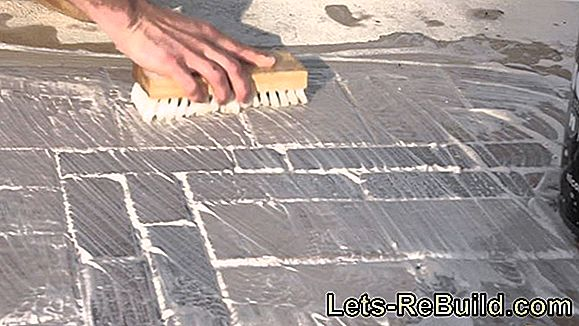 Remove stains on patio tiles