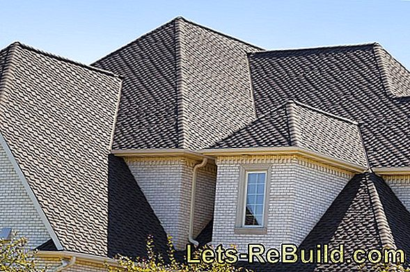 Roof shingles in different shapes and materials