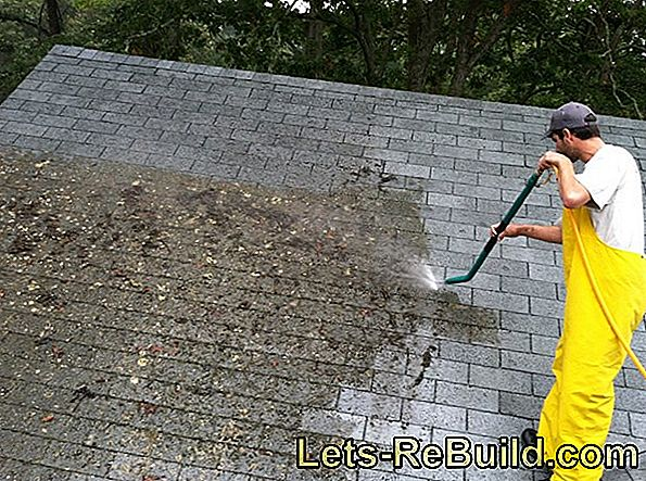 Roof cleaning - dirt and moss ade