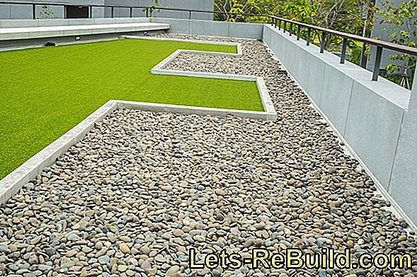 Roof terrace: How can you create a lawn?