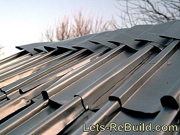 A roof made of trapezoidal sheet metal