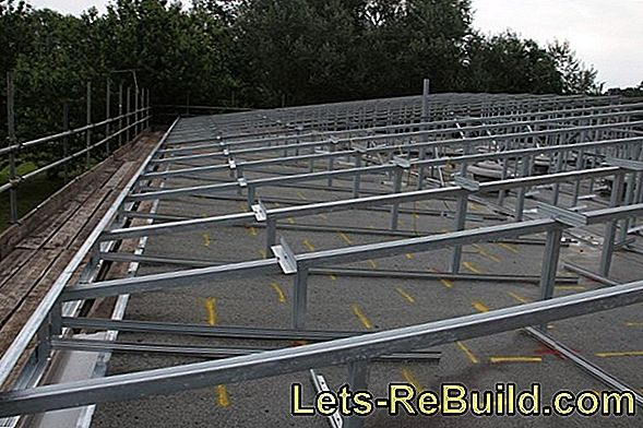 Purlin roof construction - robust and stable