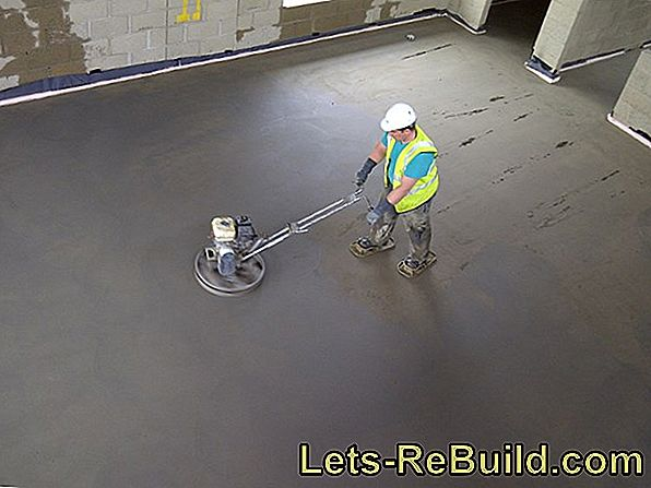 The dry times of screed