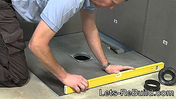 Installing The Floor Level Shower - This Is How The Installation Works
