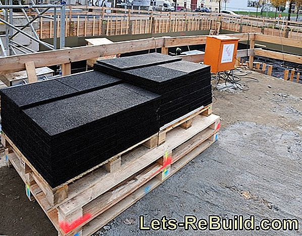 The impact sound insulation under OSB boards
