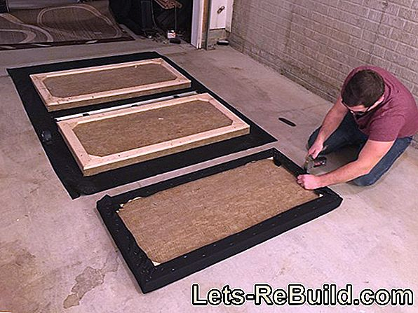 Build an acoustic wall or absorber yourself