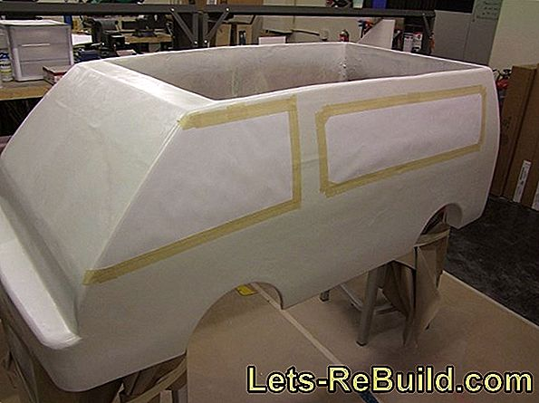 Carefully fill the bodywork