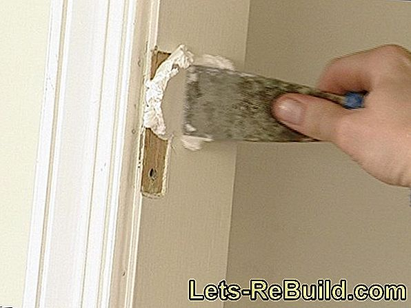 Fill door frame and paint