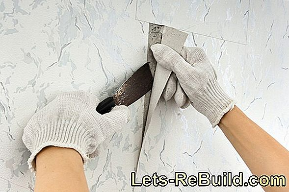 Remove old wallpaper with a spatula