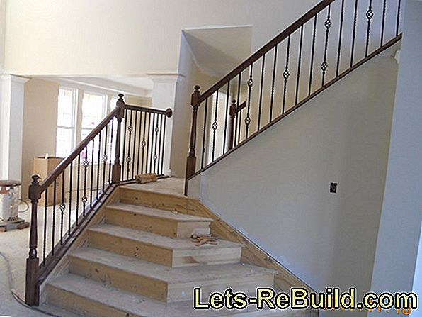 A brick stair railing