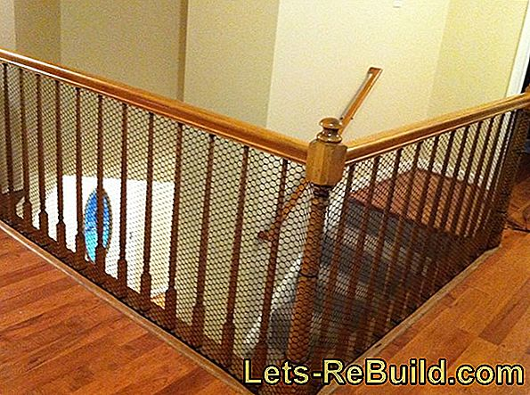 Make a banister childproof