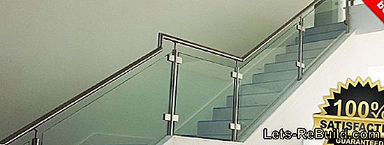 The reliable attachment of a stainless steel railing