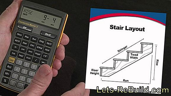 How is the stair run length calculated?