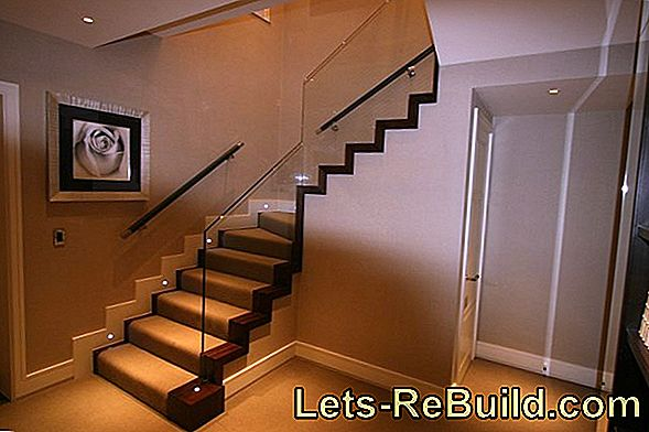 Decorate stairs to create beautiful effects