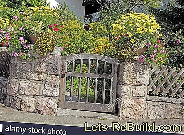Decoration for the garden: the stone wall