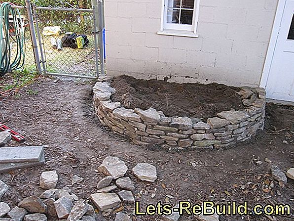 Dry stone wall - so you have to proceed